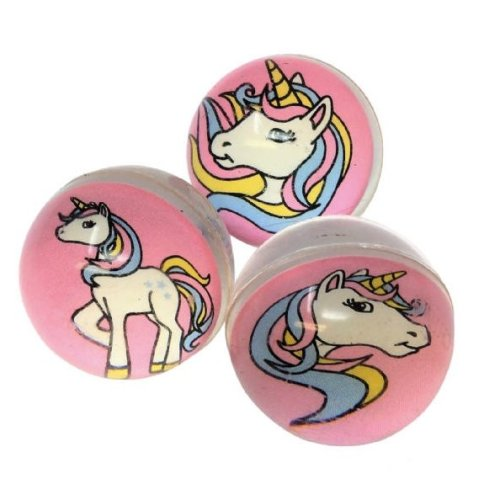 6 Unicorn Bouncy Balls 35mm