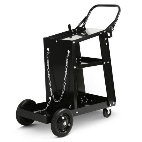 3 Tier Welding Cart Plasma Cutter Welder Trolley MIG TIG ARC Storage Gas Bottles