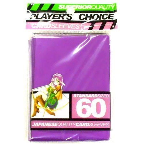 Players Choice Purple Sleeves (Pack of 60) Standard Size Deck Protectors - Magic The Gathering, Pokemon &amp Other Trading Card Games