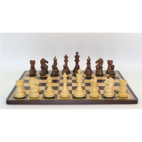 WW Chess 37KPRO-EBM 2 in. sq. Kikkerwood & Boxwood Pro Double Weighted Ebony, Maple Inlaid Frame Board