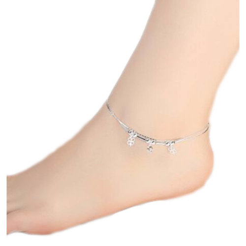 Sterling Silver Beautiful Anklet Ornaments Decor For Woman-A22