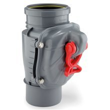 Vertically assembled anti flooding backwater drain check valve backflow prevention