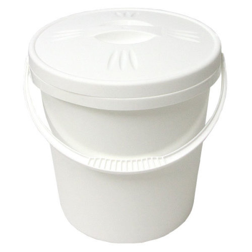 Nappy Bucket with Lid - 16 Litre White