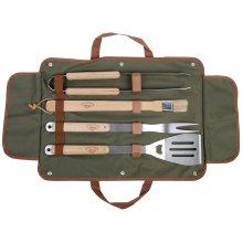 Esschert Design Barbecue Tool Set (4pc) in Carry Bag