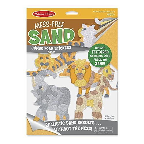 Melissa & Doug Mess-Free Sand Jungle Jumbo Foam Stickers