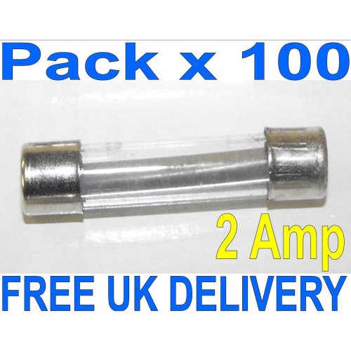 CLASSIC GLASS QUICK FAST BLOW FUSE 100 X 2AMP FUSES AUTO CAR