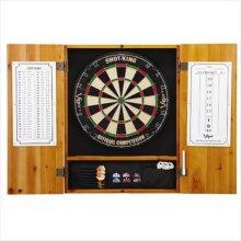 GLD Viper 40-0402 Metropolitan Oak Steel Tip Dartboard Cabinet