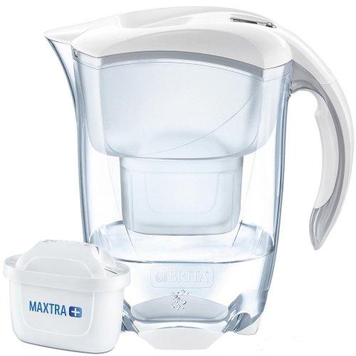 BRITA Elemaris Cool MAXTRA+ Plus 2.4L Water Filter Fridge Jug + Cartridge, White
