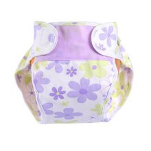 Lovely Flowers Baby Leak-free Diaper Cover With Magic Tape (6-12 Months)