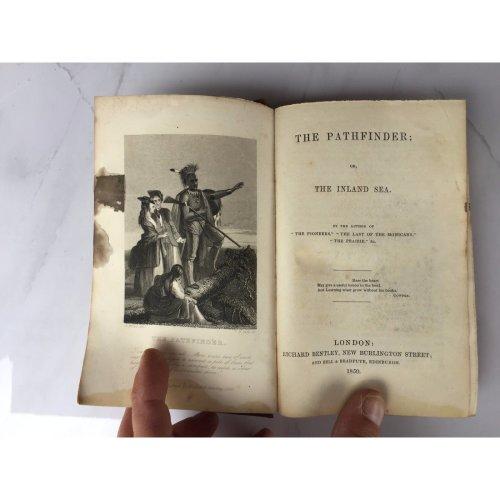 "*RARE* 1850 ""THE PATHFINDER"" JAMES FENIMORE COOPER FICTION HARDBACK BOOK"
