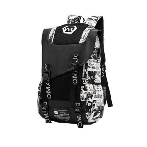 Fashion School Laptop Backpack Lightweight Travel Backpack,ex printing white