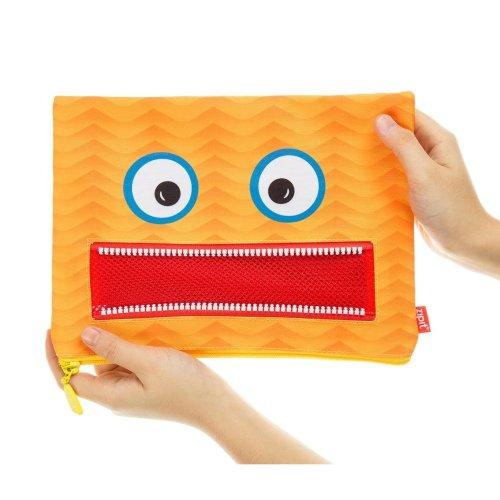Zipit Zj/Ggnt or Jumbo Googly Fun and Playful Pencil case Orange