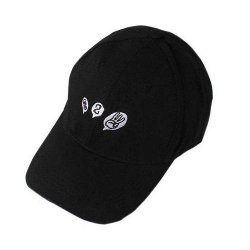 One Two Three Sports Caps Fashion Caps Ladies Baseball Caps Black