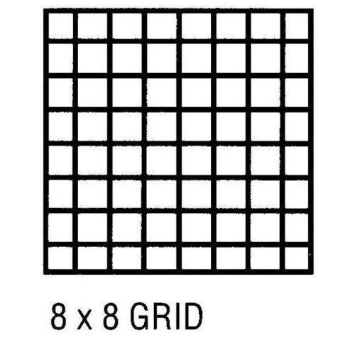 Alvin CP10002422 Grid Vel 18x24 8x8 50 Sht Pd