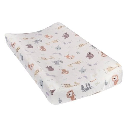 TrendLab 101384 Crayon Jungle Deluxe Flannel Changing Pad Cover