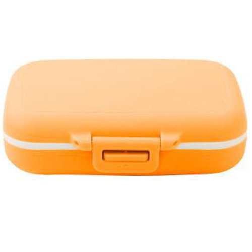 Portable Travel First-Aid Kit Medicine Storage Box Pill Sorter Container Orange