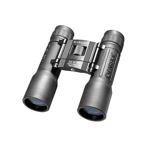 Barska Optics - Binoculars AB10670 20x32 Lucid View- Black- Compact- Blue Lens