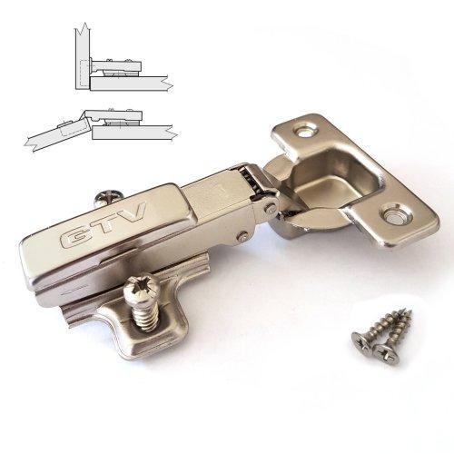 35mm KITCHEN CABINET CUPBOARD WARDROBE PUSH TO OPEN DOOR HINGE +EU SCREWS