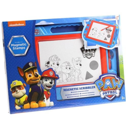 Paw Patrol Magnetic Scribbler Features Marshall Chase Rubble Large 3 Years  - Blue