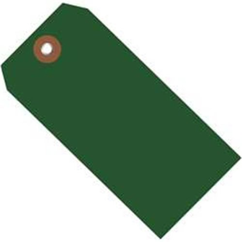 Box Partners G26061 6.25 x 3.12 in. Green Plastic Shipping Tags - Pack of 100