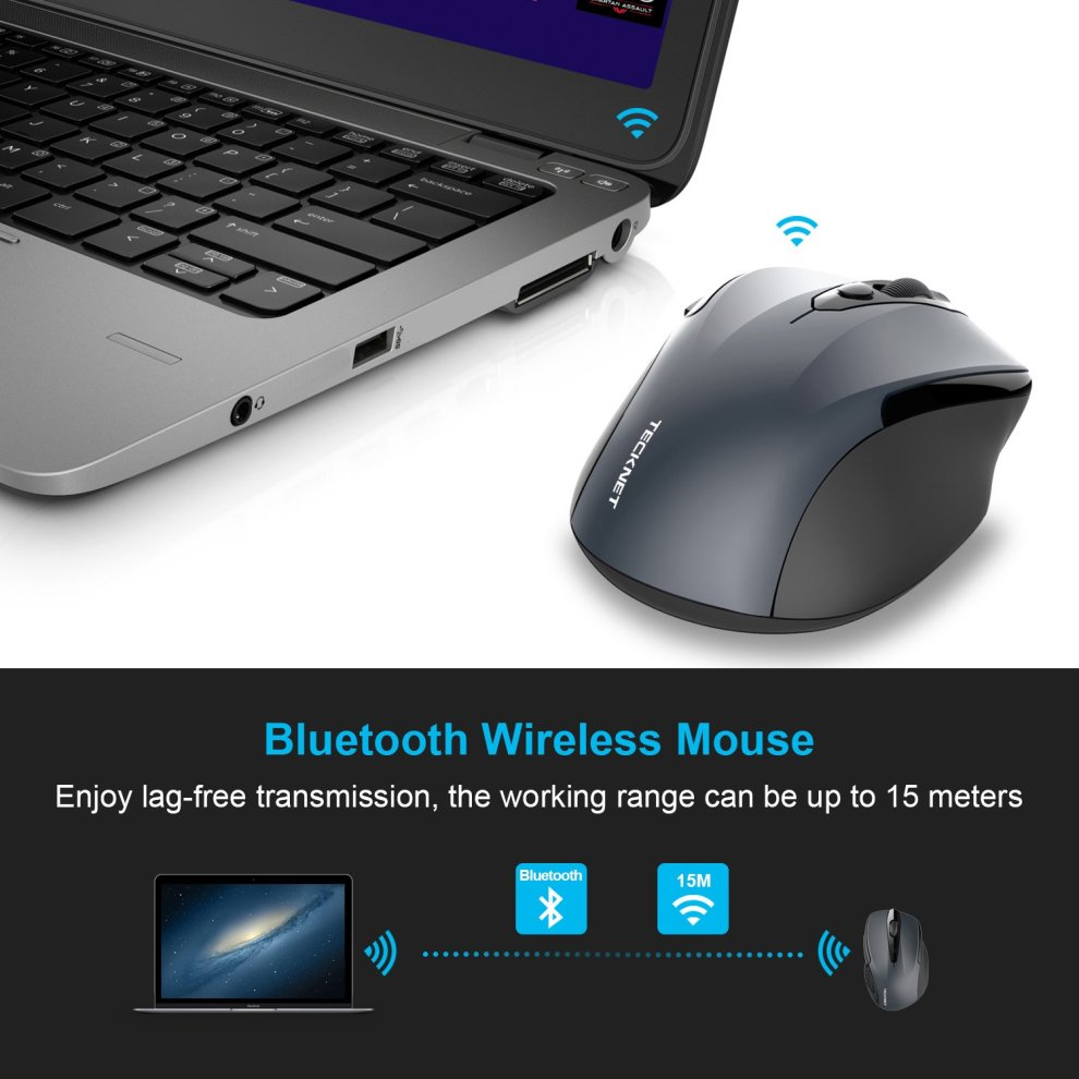 7f42cbecd35 ... TeckNet Bluetooth Mouse, 2600DPI Adjustable Wireless Mouse With 24  Months Battery Life Cordless Mice for ...