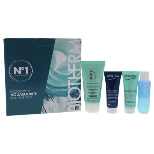 Aquasource Discovery Kit by Biotherm for Women - 4 Pc Kit 0.8oz Aquasource Gel, 0.8oz Aquasource Nig