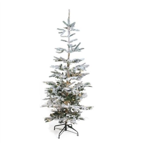 Northlight 32276617 9 Ft Pre Lit Noble Fir Flocked Artificial Christmas Tree Warm Clear Led Lights