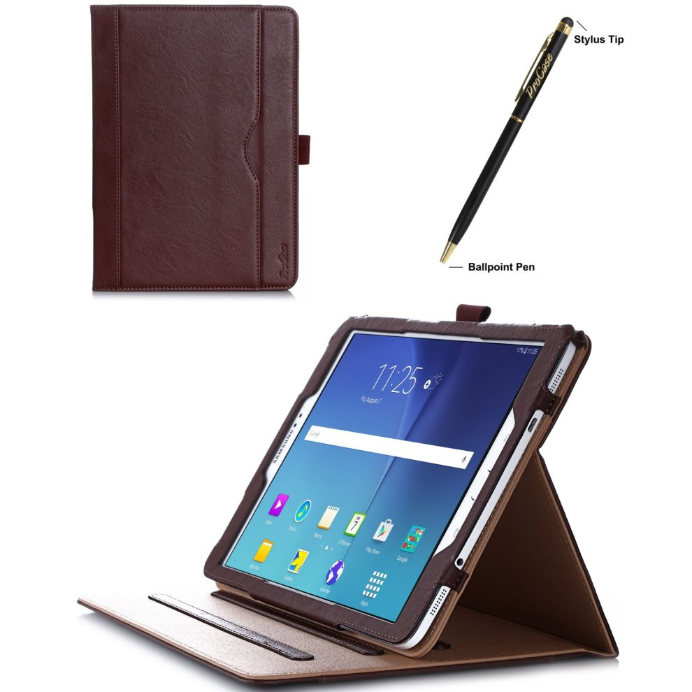 pretty nice 6eea9 46a9a ProCase Samsung Galaxy Tab S2 9.7 Case - Leather Stand Folio Case Cover for  Galaxy Tab S2 Tablet (9.7 inch, SM-T810 T815 T813) -Brown