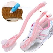 Honana BX-C294 Double-sided Skillet Soft Bristle Long handle Cleanning Brush Wash Shoe Brush