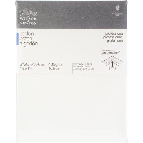 """Winsor Newton Professional Stretched Canvas Cotton-11""""X14"""""""