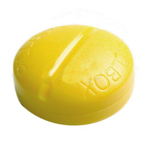 Creative 4 Compartment Pill Shape Pill Box-Yellow