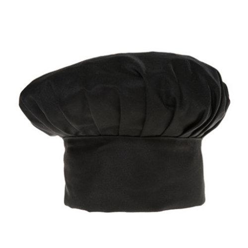 Chef Hat Adult Adjustable Elastic Baker Kitchen Cooking Chef Cap 2 Pcs, Black