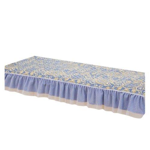 [Hyacinth] Bay Window Mats Window Bench Mat Lace Cover, No Cushions, 27x47 inch