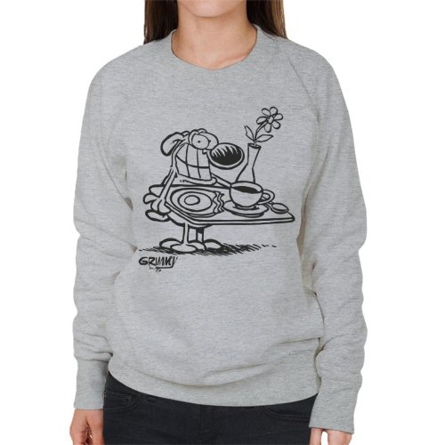 Grimmy Breakfast In Bed Women's Sweatshirt