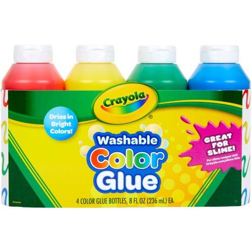 Crayola Washable Color Glue 8oz-Multicolor 4/Pkg