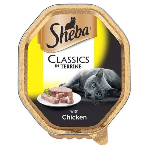 Sheba Tray Classics With Chicken In Terrine 85g (Pack of 22)