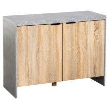 HOMCOM Storage Cabinet, 100Lx40Wx75H cm-Grey