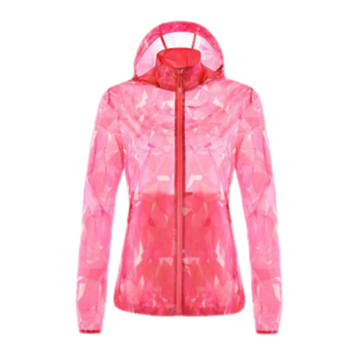 Outdoor Waterproof Sun Protective Clothing Cycling Climbing Long Sleeve Shirts Raincoat-Pink