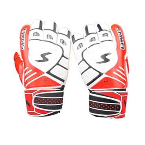 Cool Receiver Glove Latex Football Receiver Gloves for Adults, (White/Red, M)