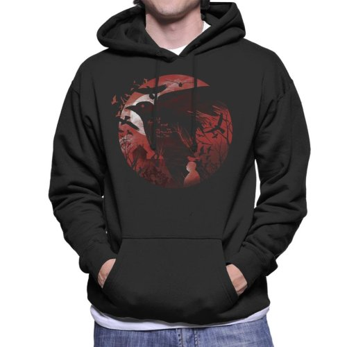 Alfred Hitchcock Silhouette The Birds Men's Hooded Sweatshirt