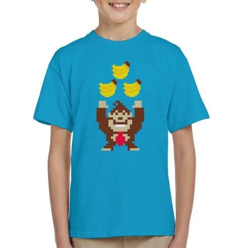 Bananas Pixel Art Donkey Kong Kid's T-Shirt