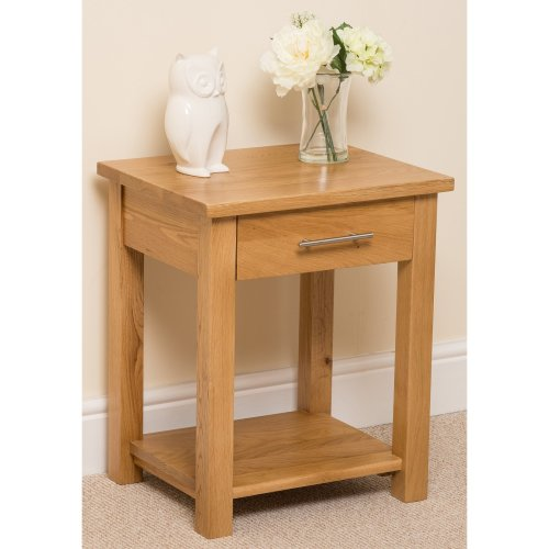 Oslo Solid Oak Lamp/ Side Table