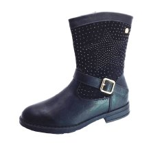 Xti Black Fashion Boots with Diamontes