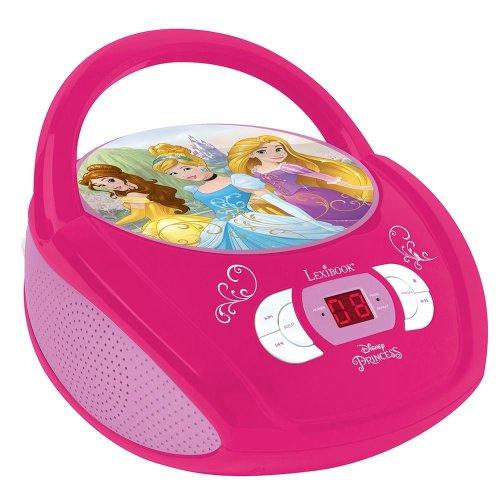 Lexibook RCD108DP Disney Princess Portable Boombox Radio CD Player