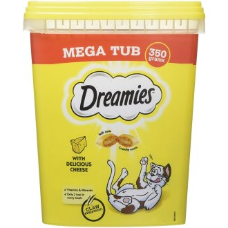 Dreamies Cat Treats Mega Tub (2 x 350g)