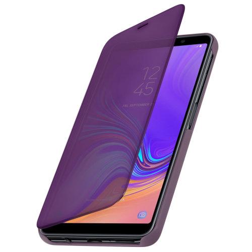 hot sale online 15623 c5769 Flip Case Mirror Case for Samsung Galaxy A7 2018 Standing Cover - Purple