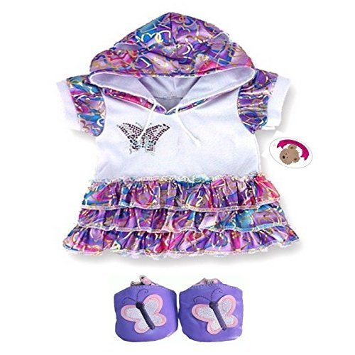 0aa1ca79ac7 Build Your Bears Wardrobe Teddy Bear Clothes fits Build a Bear Teddies  Butterfly Dress (purple) on OnBuy