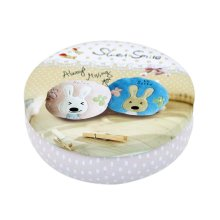 Round Cute Pill Boxes Candy Metal Case Storage Box, Rabbit