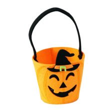 Trick Or Treat Small Halloween Party Decor Children Prop Candy Storage-A3