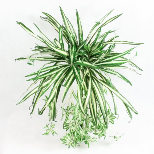 Large Artificial Spider Plant Silk Hanging Leaves Bush Home & Office Decor